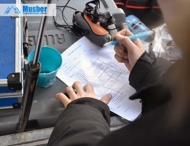 Checklist musher