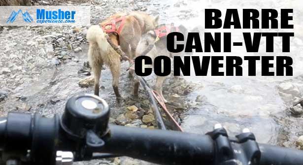 Barre de traction converter pour canivtt (bikejoring)