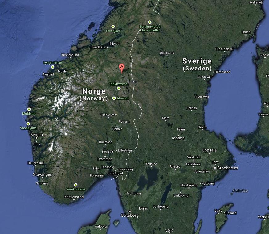 Roros, en Norvege, pour la Femundlopet
