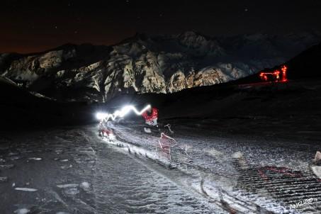 Traineau à chiens-la grande odysée 2012-nuit 9eme etape Haute
