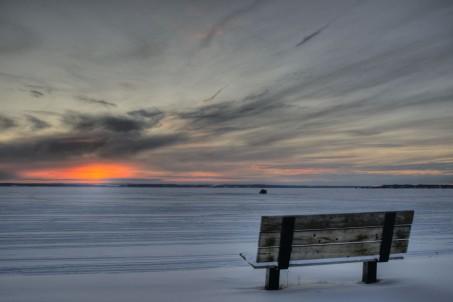 Bench Pigeon Lake, Alberta, Canada