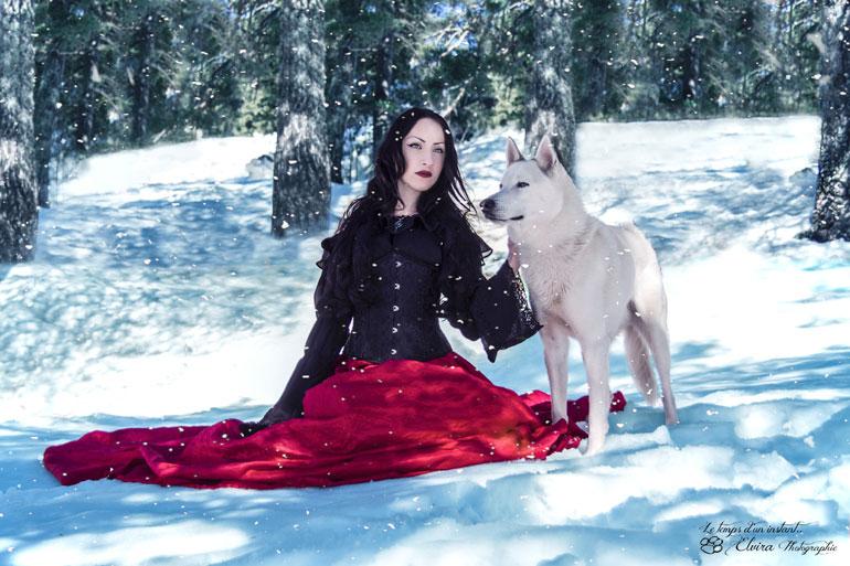 La Dame au loup blanc