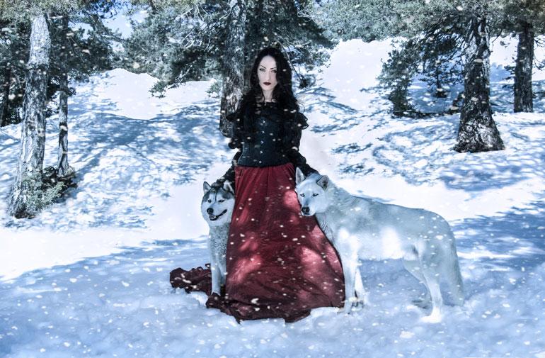 La reine des loups dans la neige^^