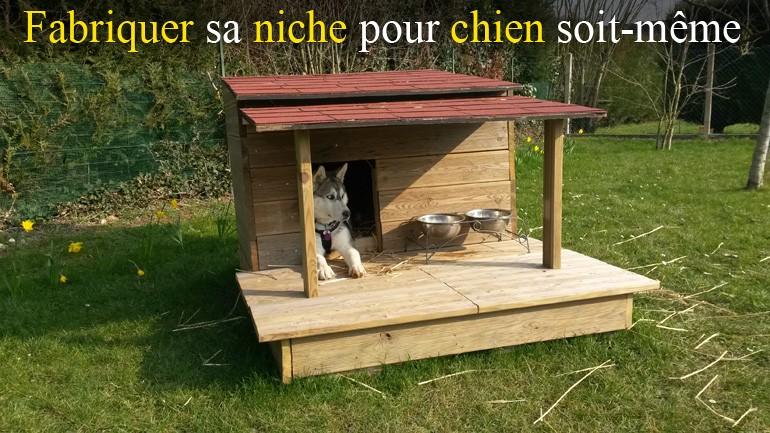 Fabriquer soit m me une niche pour chien en bois avec - Comment fabriquer une niche en bois pour chien ...