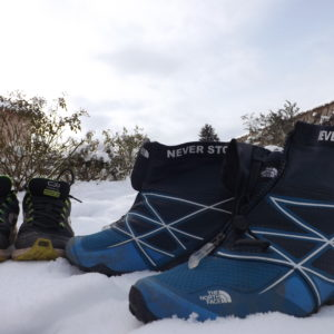 chaussures basket canicross hiver trail the north face