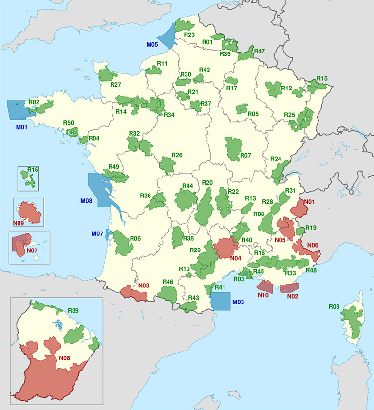 Camping sauvage: carte de France