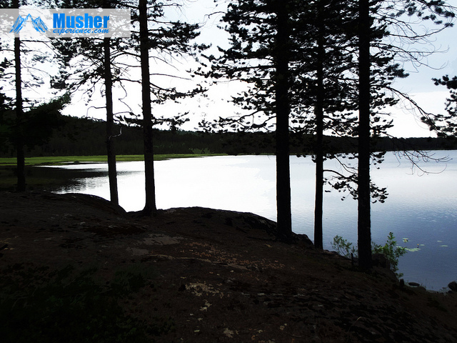 le lac de Jokkmokk hors saison