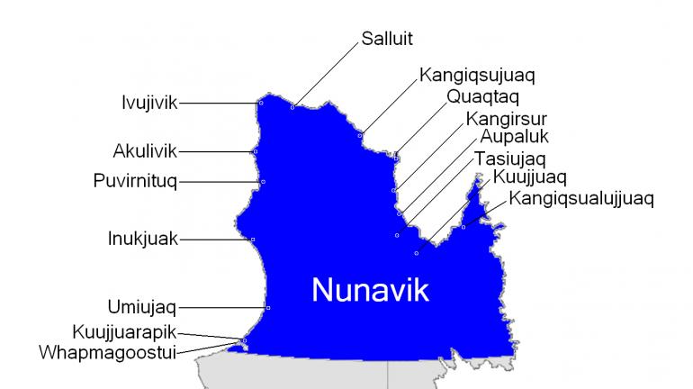 Carte Nunavik - Québec