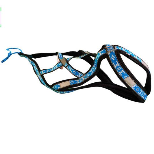 harnais canicross chien - xback manmat bleu glacial