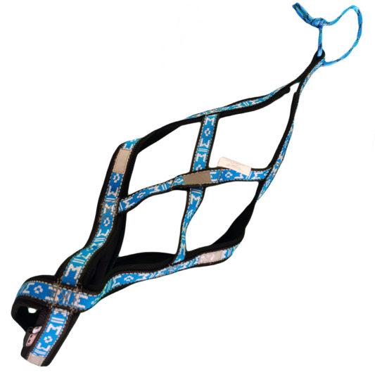 harnais canicross manmat xback chien bleu glacial