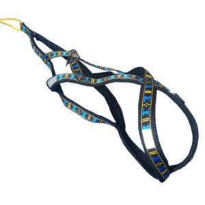 harnais xback Manmat classique bleu chien demi-profil