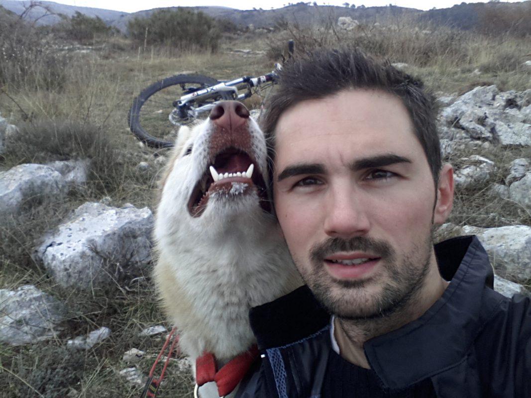 Baptiste et Grimm lors d'une sortie canivtt