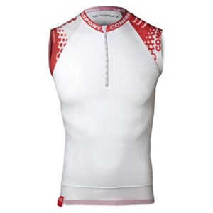 Compressport-Trail-Tank-T-Shirt-de-compression-Homme-Blanc-FR-XL-Taille-Fabricant-T4-0