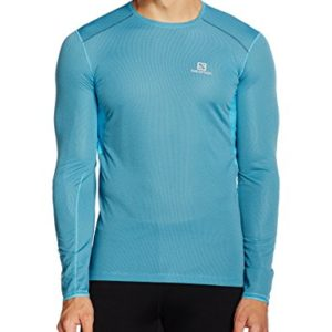 Salomon-Trail-Runner-T-Shirt-Manches-Longues-Homme-Action-Blue-FR-M-Taille-Fabricant-M-0