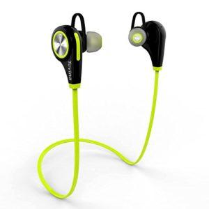 Tevina-Ecouteurs-Bluetooth-41-Casque-de-Sport-Oreillette-Sans-Fil-Stro-Intra-Auriculaires-Tour-de-Cou-Mains-libres-avec-Microphone-pour-Appareils-Bluetooth-Vert-et-Noir-0