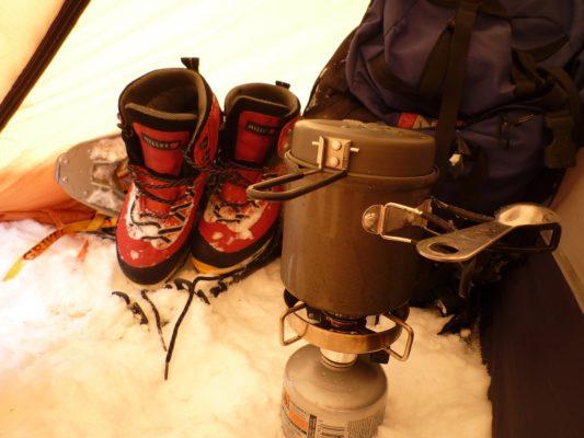 Canirando et bivouac neige - equipement fait défaut