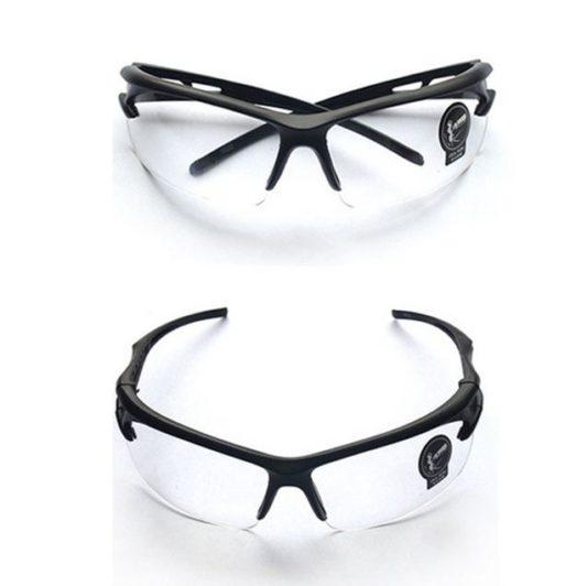 lunettes cani VTT protection éclats blanc