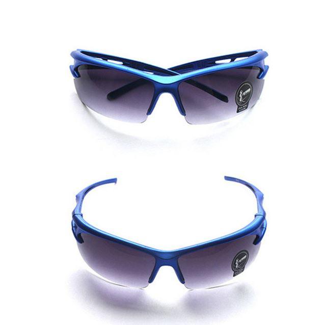 lunettes cani VTT protection éclats bleu
