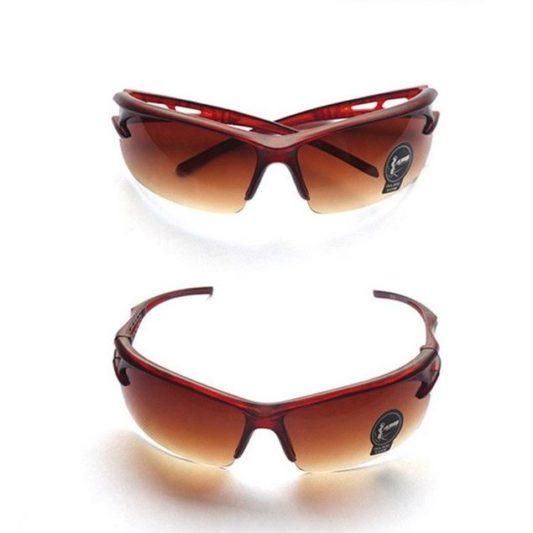 lunettes cani VTT protection éclats marron