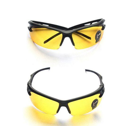 lunettes cani VTT protection éclats verres jaune