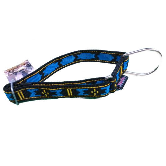 Collier pour chien Manmat - collier de chien sport en nylon bleu grosse boucle