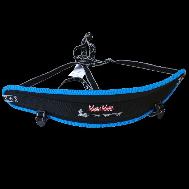 Baudrier canicross ceinture canicross confort manmat bleu