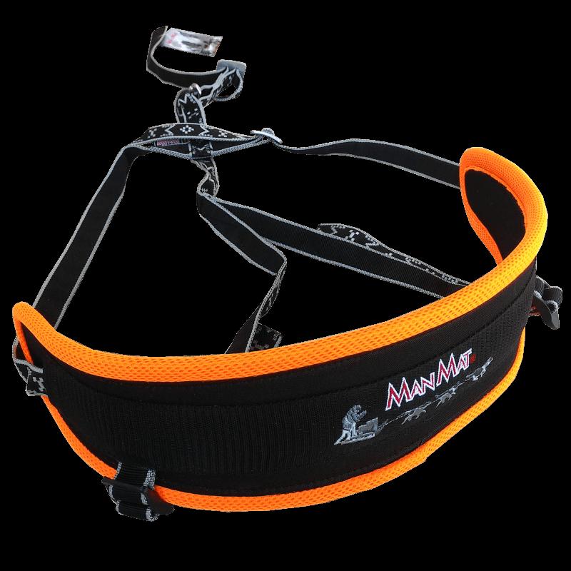 Baudrier canicross ceinture canicross confort manmat orange