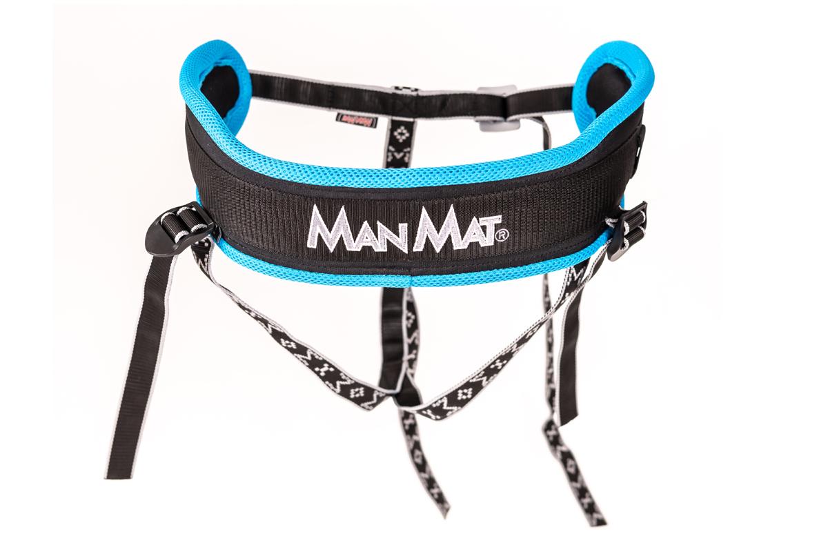 ceinture canicross ManMat Musher Experience bleu glacial
