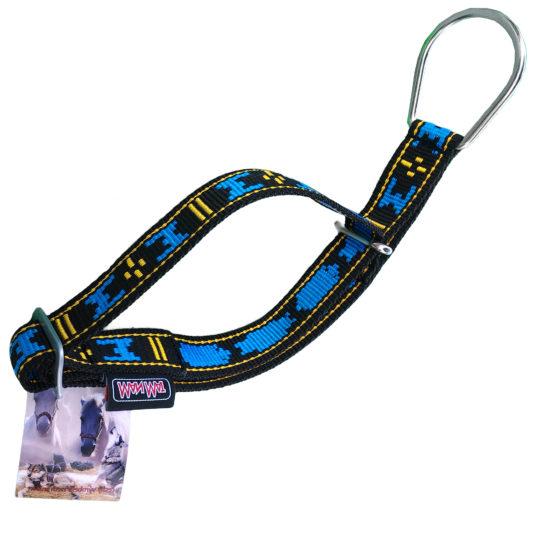 Collier semi étrangleur Manmat - collier pour chien bleu et noir