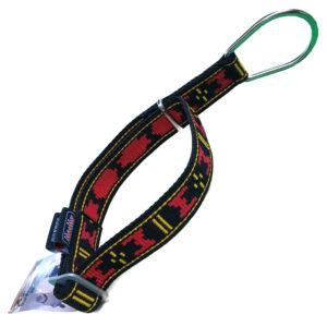 Collier semi étrangleur Manmat - collier pour chien rouge et noir