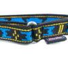 Collier semi étrangleur Manmat – finitions collier pour chien bleu et noir