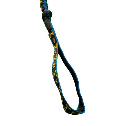 ligne canicross poignee bleu