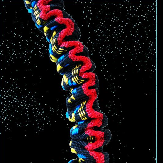 Ligne de trait manmat canicross canivtt mono chien elastique amortisseur rouge noir
