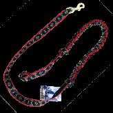 Ligne de trait manmat canicross canivtt mono chien rouge noir
