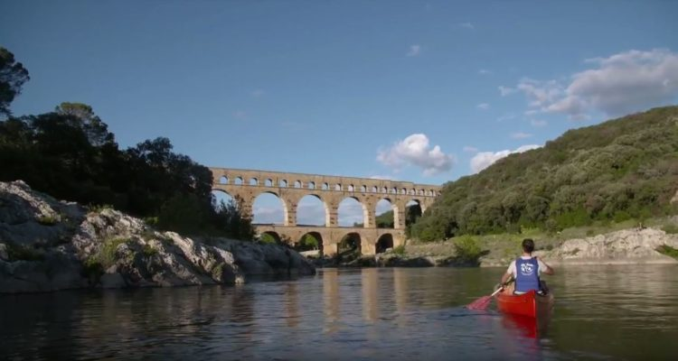 decouverte du pont du gard en kayak
