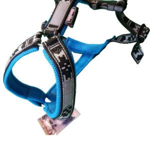 harnais court canicross balade canivtt - bleu glacial
