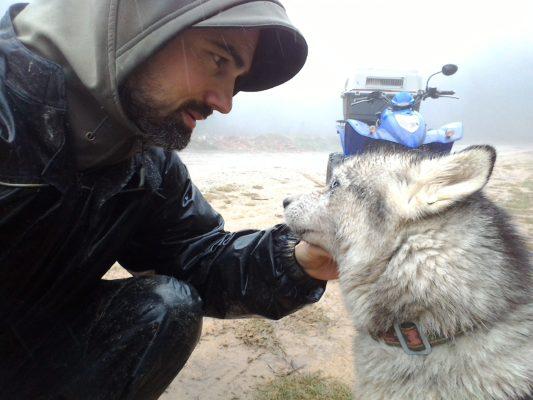 baptiste de musher experience avec hamaru ka husky siberien