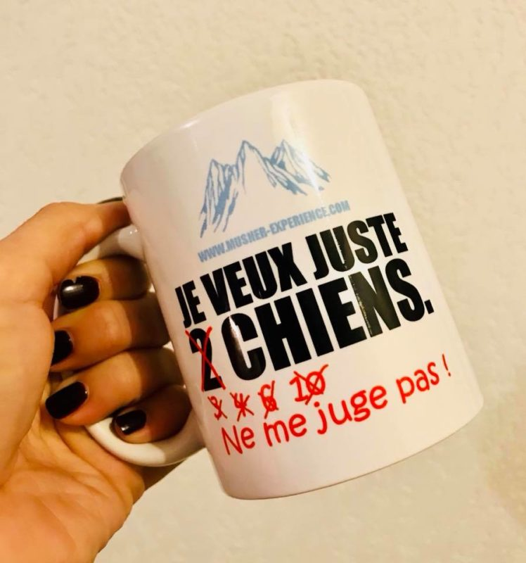 mug tasse je veux juste 2 chiens ne me juge pas