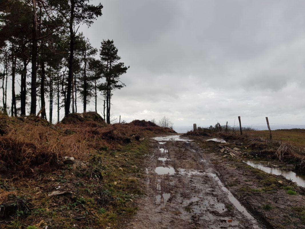 chemin boue montagne noire tarn