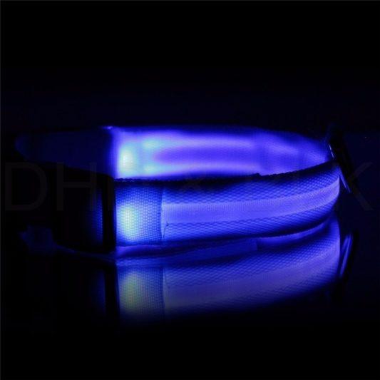 collier lumineux led bleu nuit