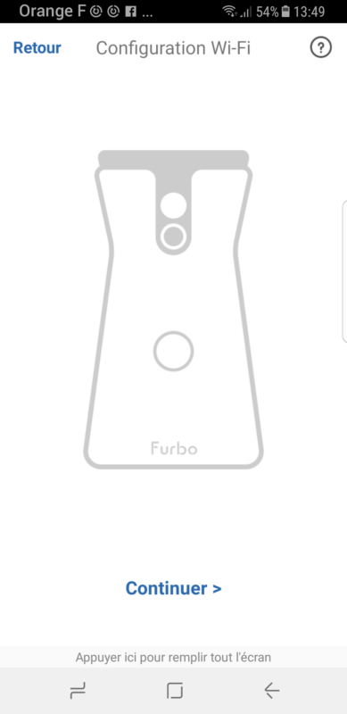 furbo dog camera configuration wifi application smartphone