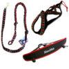 kit canicross equipement canicross baudrier ligne harnais chien rouge canirun