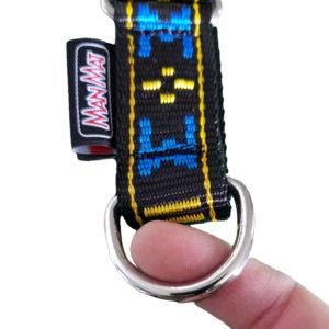 collier pour chien boucle sport nylon manmat bleu noir