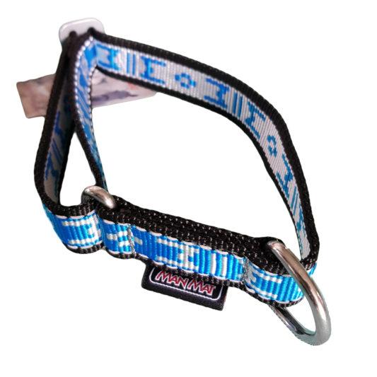 collier pour chien solide sport nylon manmat bleu glacial
