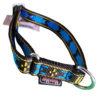 collier pour chien solide sport nylon manmat bleu noir