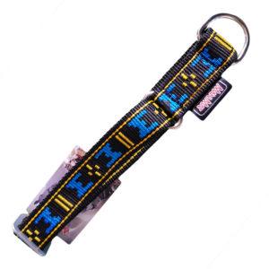 collier pour chien sport nylon manmat bleu noir