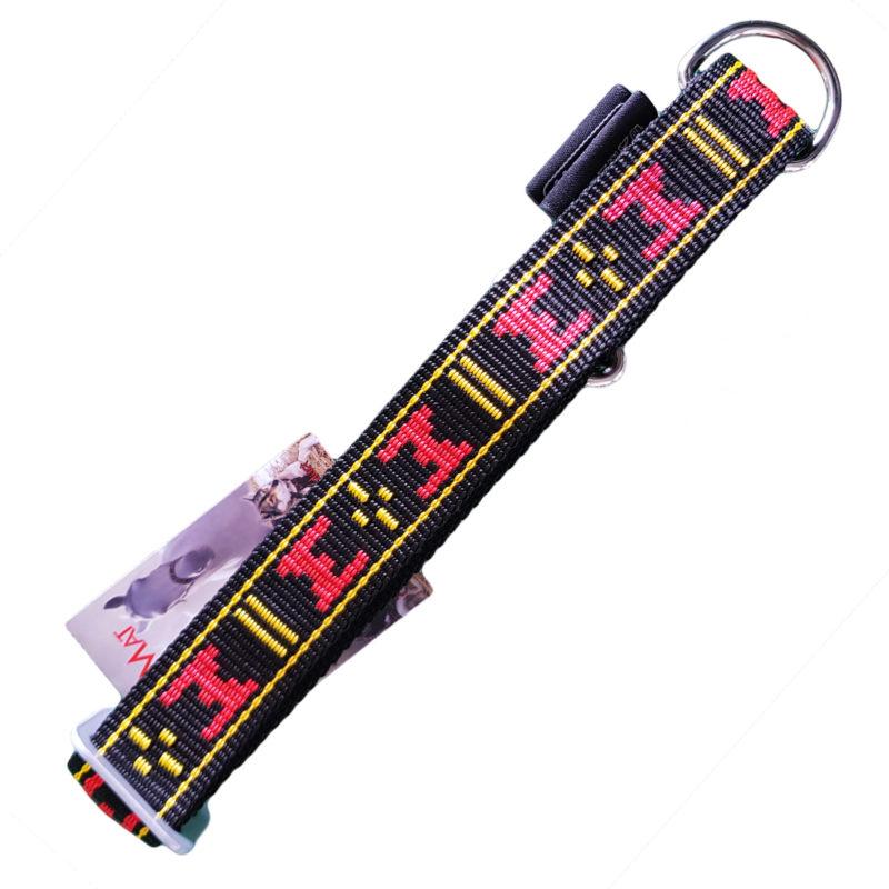 collier pour chien sport nylon manmat rouge noir
