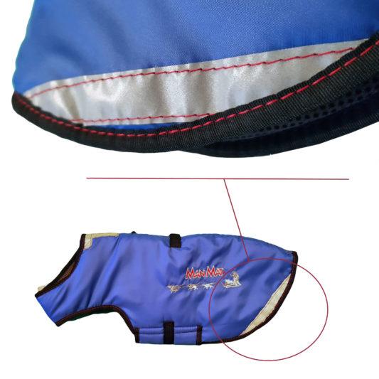 manteau pour chien bandes reflechissantes thermo coat manmat