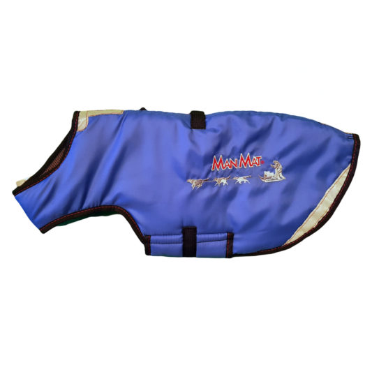 manteau pour chien thermo coat manmat bleu