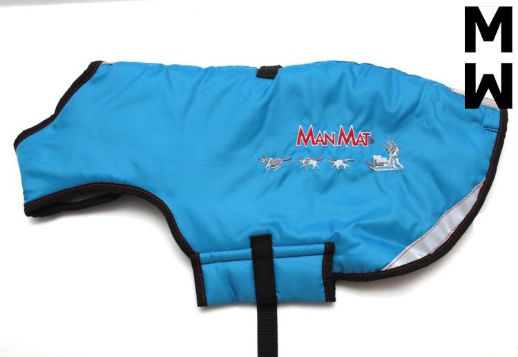 manteau pour chien thermo coat manmat bleu glacial
